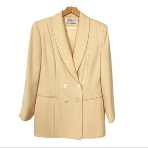 Vintage double breasted blazer butter yellow cream